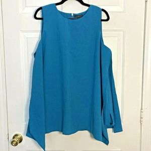 Lane Bryant Layered Sleeveless Blouse - SZ 18 Teal